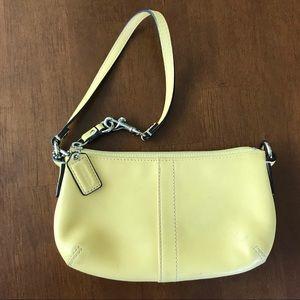 Coach Yellow Leather Wristlet Purse